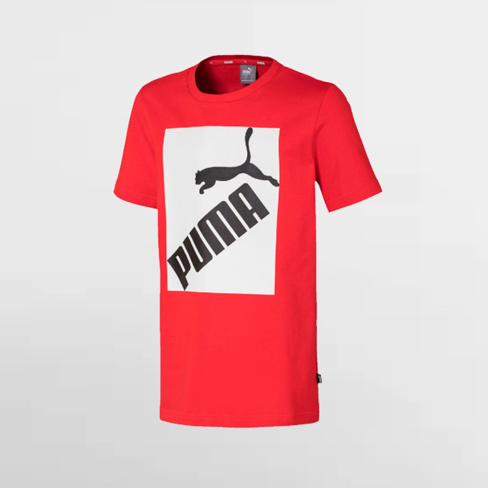 Camiseta Puma Logo Tee High Risk Red