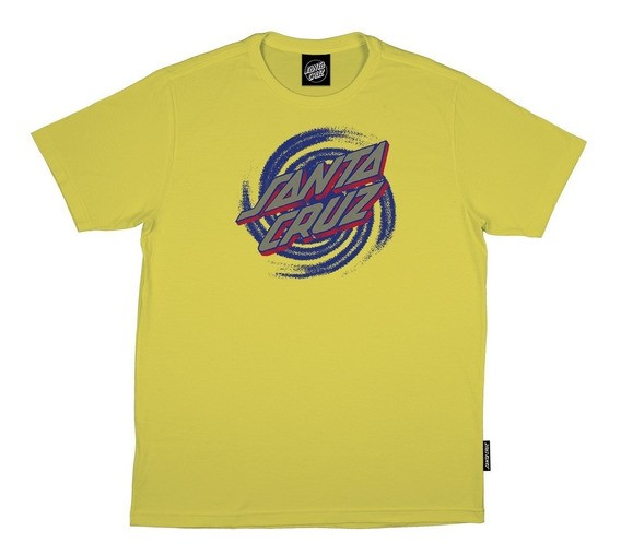 Camiseta Santa Cruz Eight Portal Dot - Amarelo