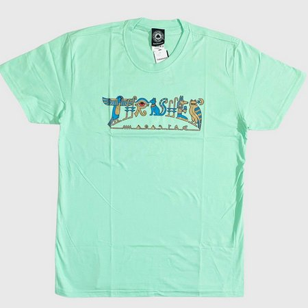 Camiseta Thrasher Hieroglyphics - Verde Claro