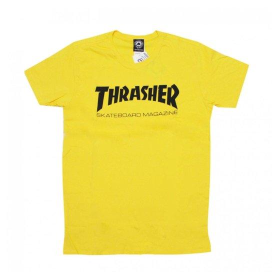 Camiseta Thrasher Mag logo - Amarelo