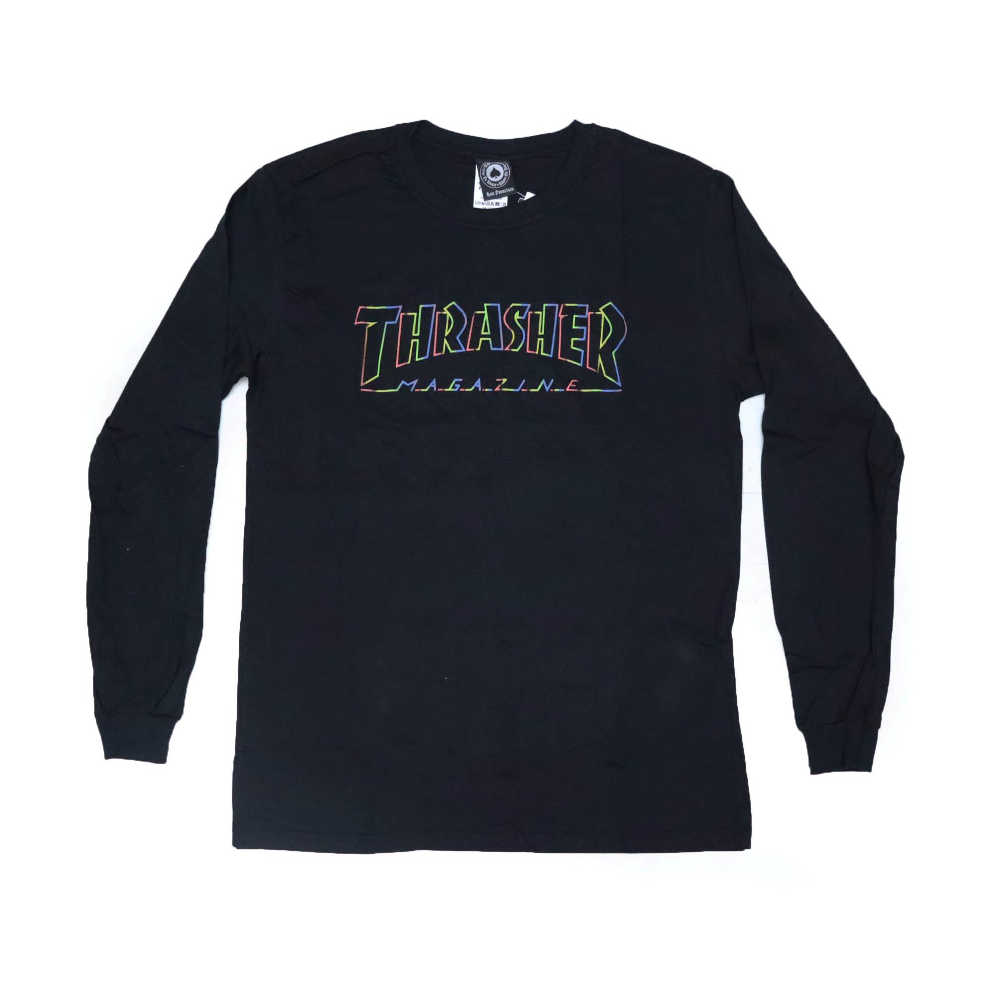Camiseta Thrasher Manga Longa Spectrum - Preto