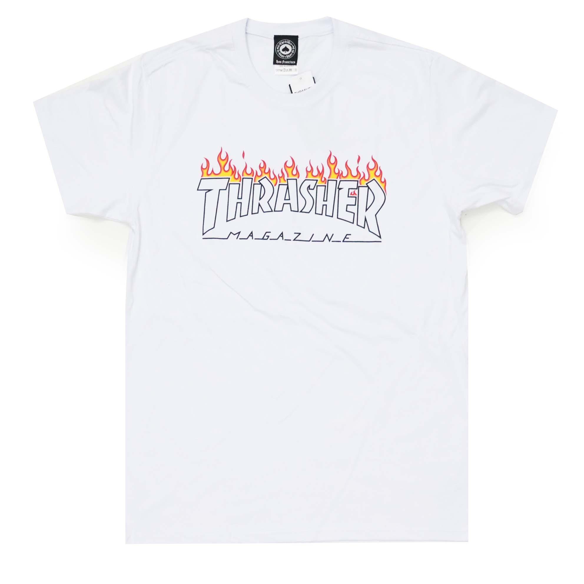Camiseta Thrasher Scorched Branca