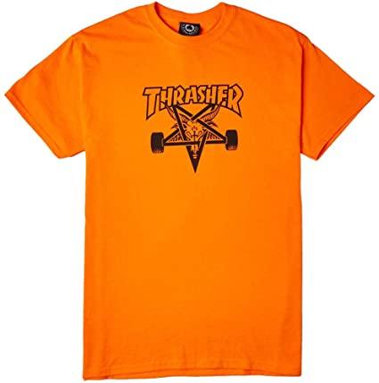 Camiseta Thrasher Skate Goat - Laranja