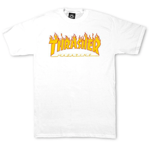 Camiseta Thrasher Flame Logo Branco