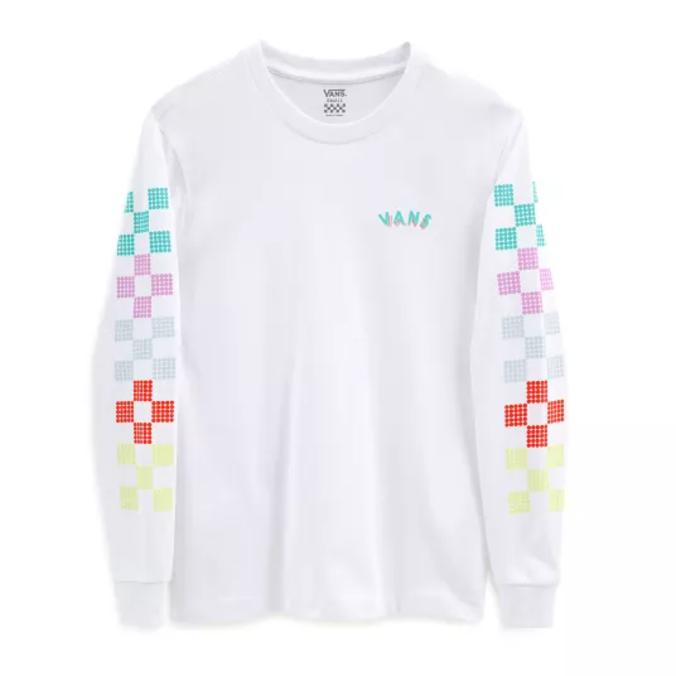 Camiseta Vans Dottty Check LS BF Manga Longa