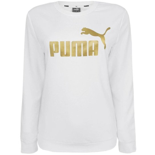 Moletom Puma Essentials Crew Neck Metallic Logo