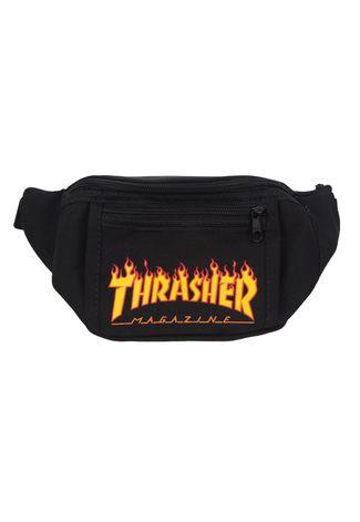 Pochete Thrasher Flame Preto