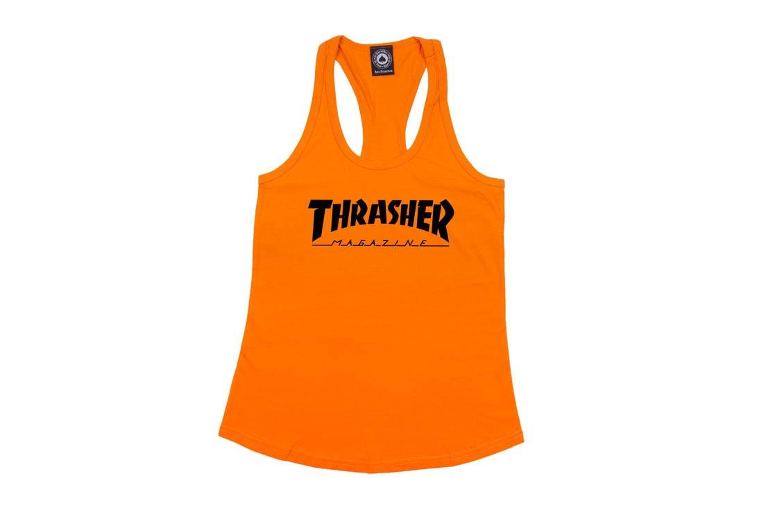Regata Thrasher Magazine Racerback - Laranja