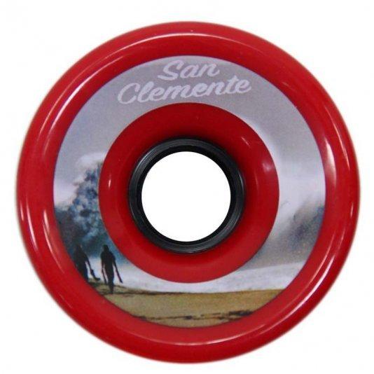 Roda Longboard San Clemente Silk 76 x 53mm - Vermelho