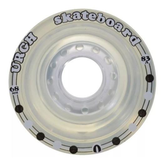 Roda Longboard Urgh Importada Clear Transparente 68mm