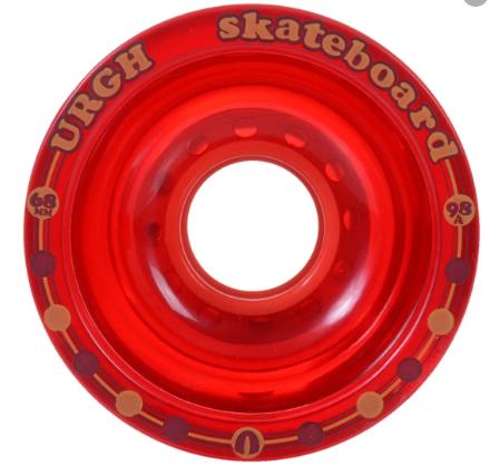 Roda Longboard Urgh Importada Clear Vermelha 68mm