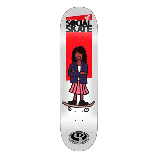 Shape Marfim Drop Dead - Projeto Social Girl Skate7.75