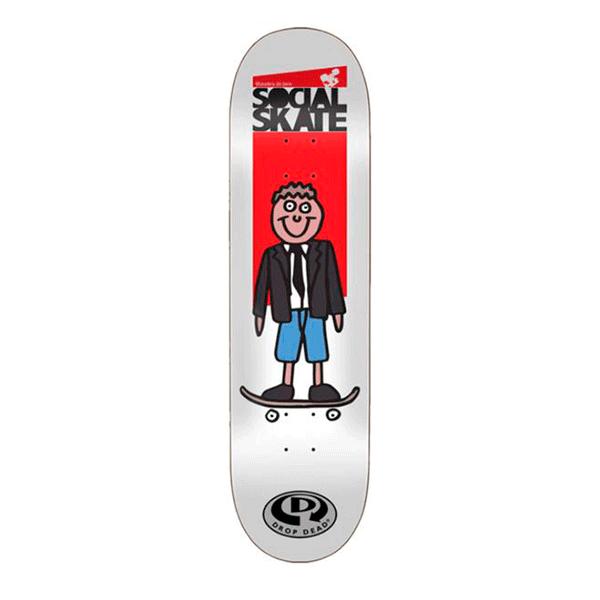 Shape Marfim Drop Dead - Projeto Social Skate Boy 8.25