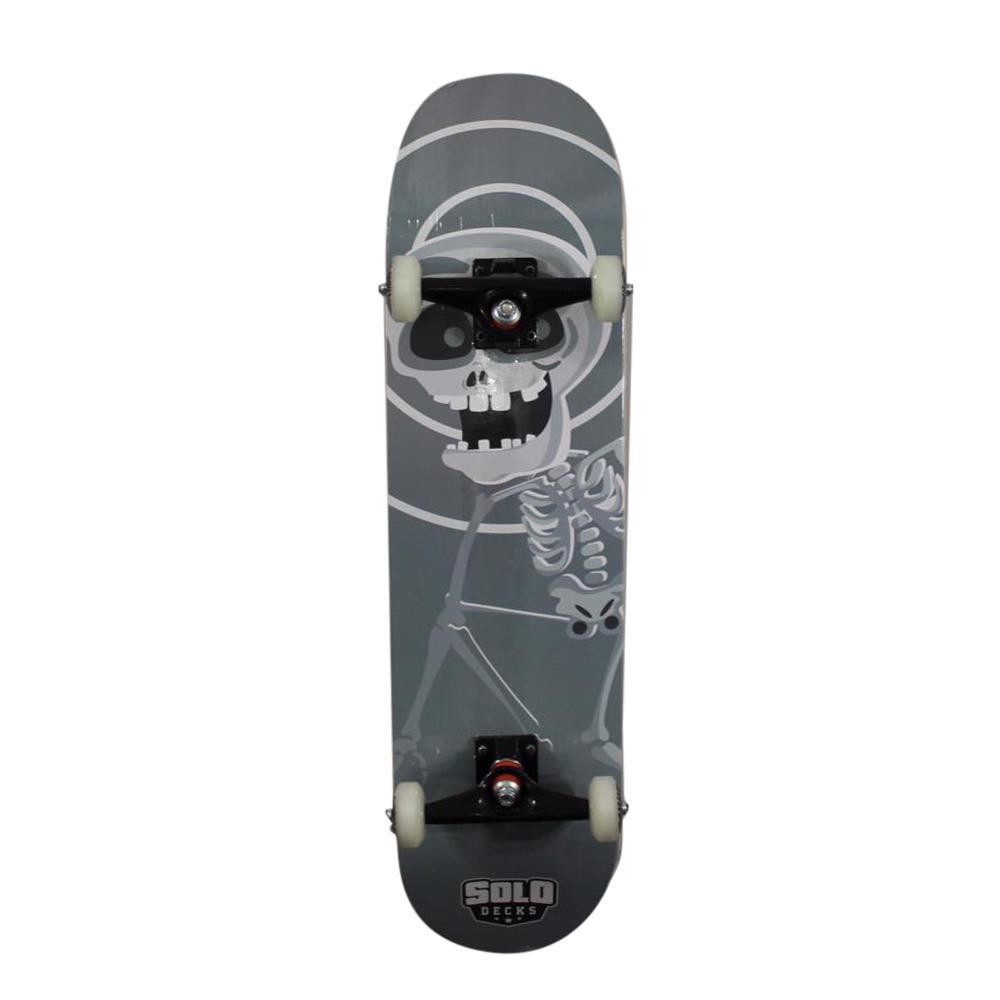 Skate Montado Iniciante Solo Decks Monster Grey