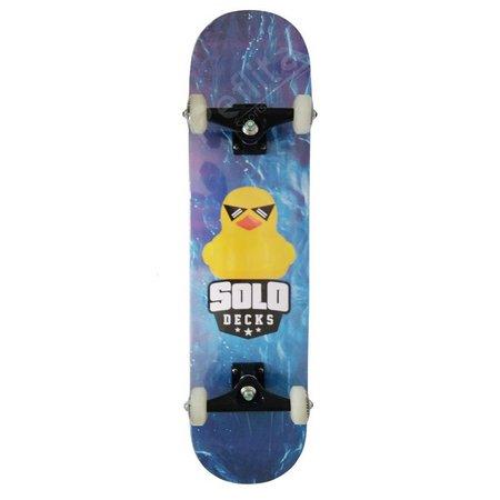 Skate Montado Iniciante Solo Serie Colagem Azul