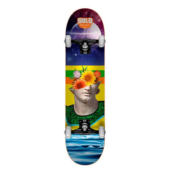 Skate Montado Iniciante Solo Decks Colagem #1
