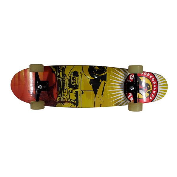 Skate Semi Long Montado - Herby Laranja/Amarelo
