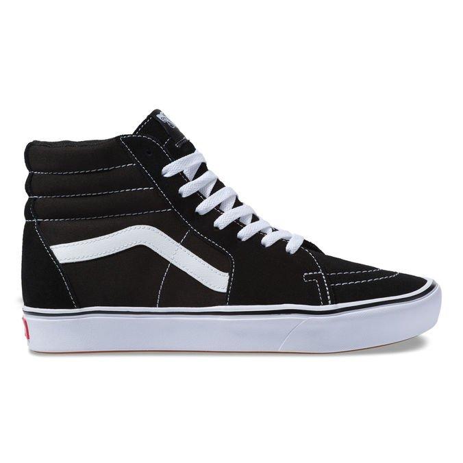 Tênis Vans Comfycush Sk8 Hi - Black/White