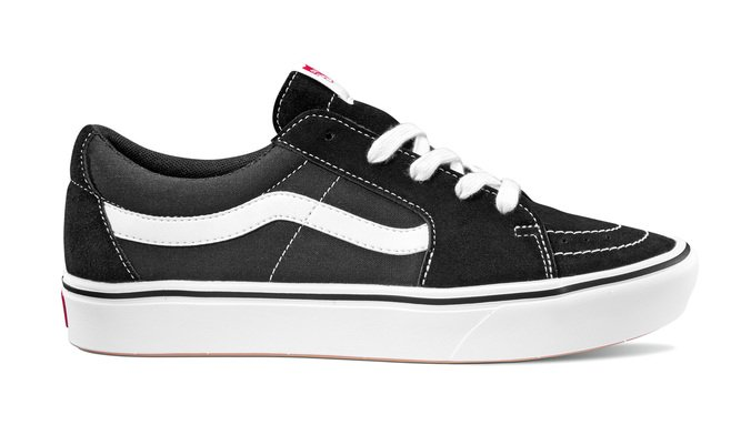 Tênis Vans Comfycush Sk8 Low - Black/White