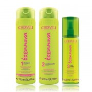 Cadiveu Kit de Tratamento Bossa Nova Shampoo 250ml Condicionador 250ml Maxi Ondas 200ml - P