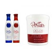 Combo Progressiva Portier Fine Premium 2x1L + Botox Portier Ciclos 1kg - T