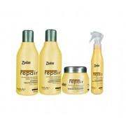 Detra Extreme Repair Kit Peq - Shampoo 280ml, Condicionador 280ml, Máscara 280g e Spray 125ml - R