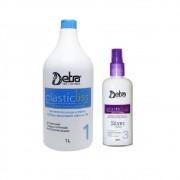 Detra Plastic Liss Shampoo Passo 1 1000ml + Spray de Colágeno 200ml - R