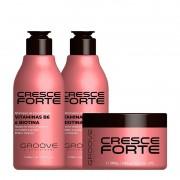 Groove Professional Cresce Forte - Kit Shampoo e Condicionador 300ml + Máscara 300g