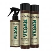 Hobety Vegan Kit Shampoo+Bálsamo 2x300 e Pré-Shampoo 150ml