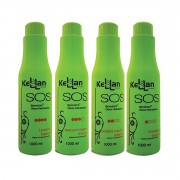 Kellan SOS Tratamento Capilar Biorestore Óleos hidratantes 4 Passos