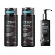 Kit Truss Infusion 3 Produtos - Shampoo Condicionador 2x 300ml + Nght Spa 250ml