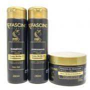 Tazin Kit Crina Force Shampoo 260ml + Condicionador 260ml + Máscara 250g