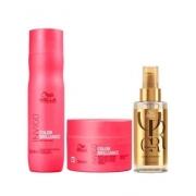 Wella Kit Invigo Brilliance Shampoo 250ml Máscara 150ml e Oil Reflection 100ml