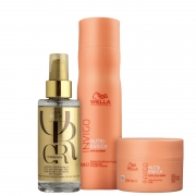Wella Kit Invigo Nutri-Enrich Shampoo 250ml  Máscara 150ml Oil Reflection 100ml