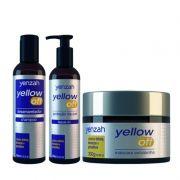 Yenzah Yellow Off Kit Shampoo 240ml, Leave-In 240ml e Máscara Extrabrilho 300g