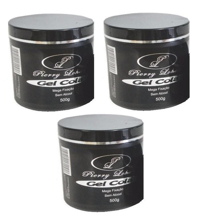3x PIERRY LOHAN 500G Gel Cola - Gel para Penteados