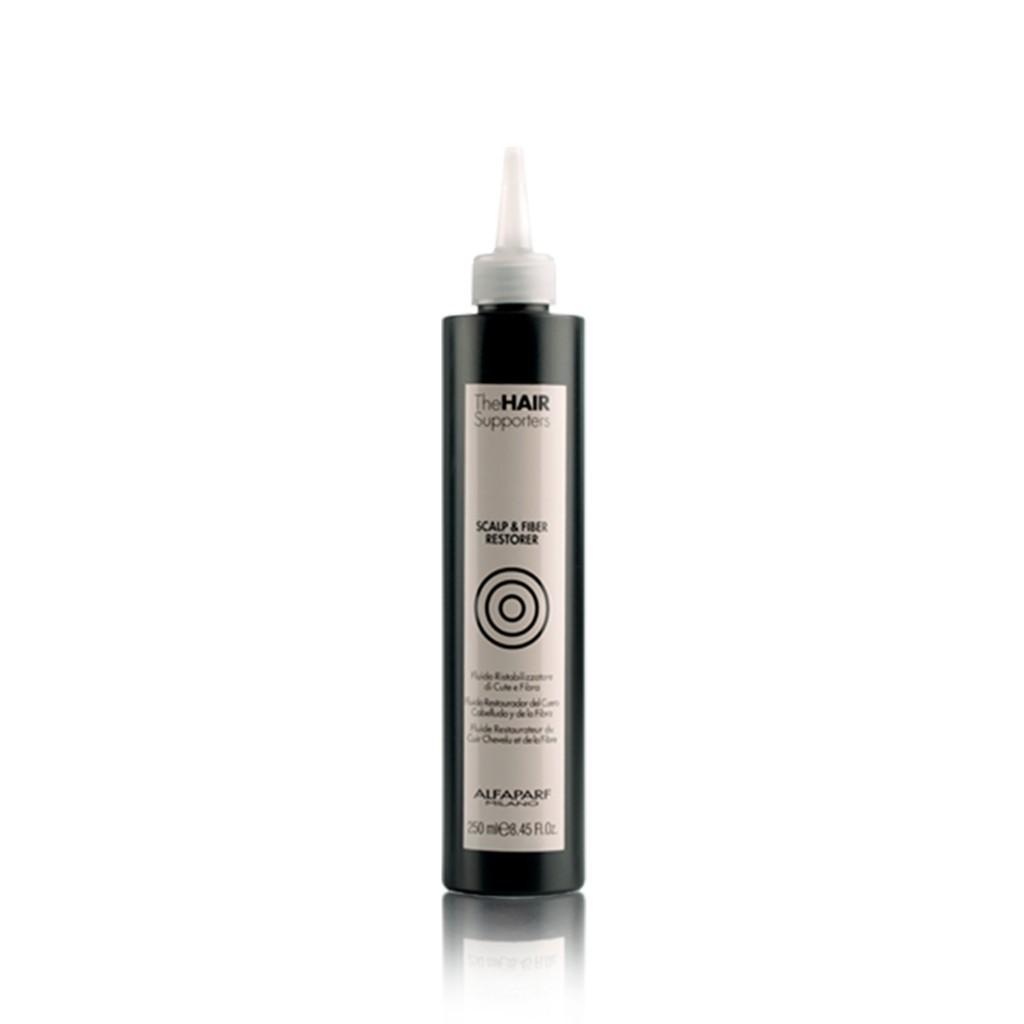 Alfaparf The Hair Supporters Scalp e Fiber Restorer 250ml - Fluído Condicionador Restauração do Couro e Fibra