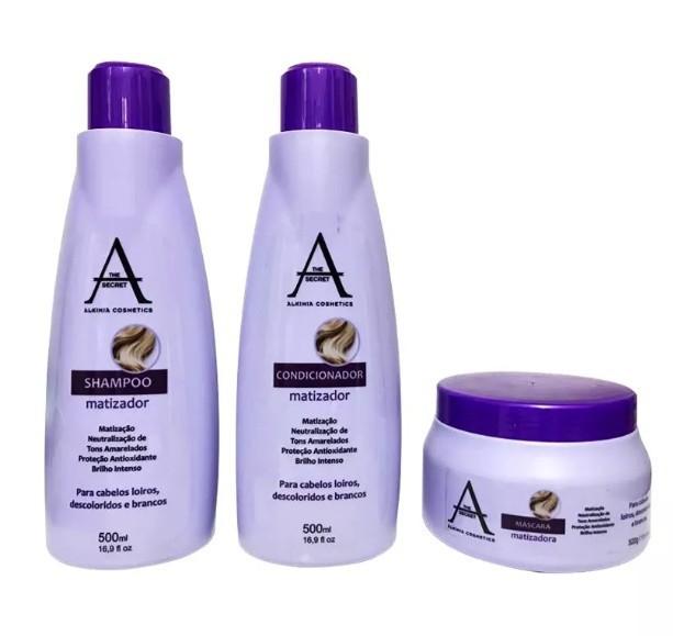 Alkimia Cosmetics Kit Tratamento Matizador 3x500ml