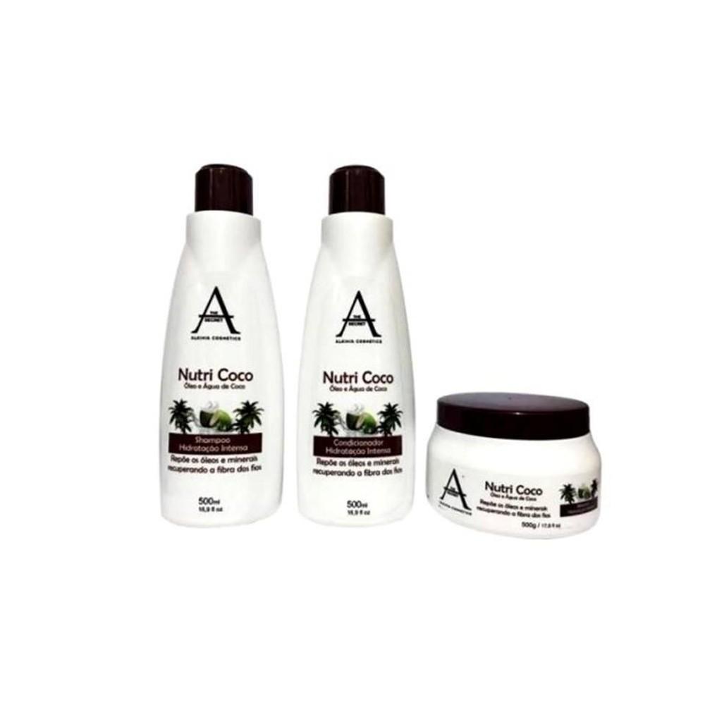 Alkimia Cosmetics Kit Tratamento Nutri Coco 3x500ml