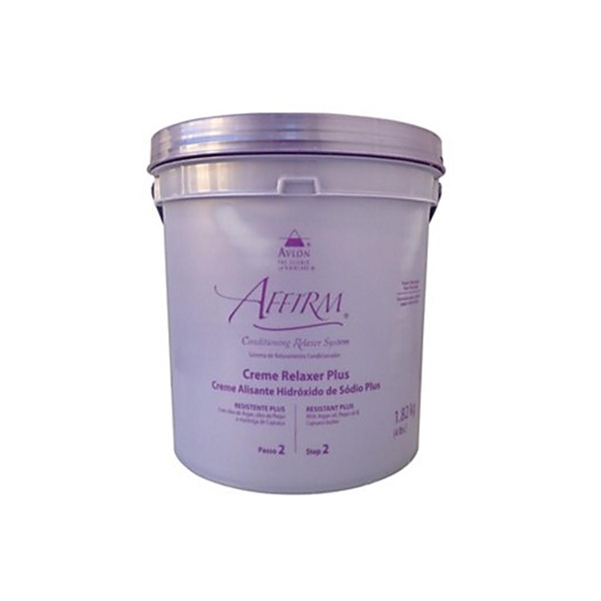 Avlon Affirm Creme Alisante Hidróxido de Sódio Resistente Plus 1,8 Kg - G