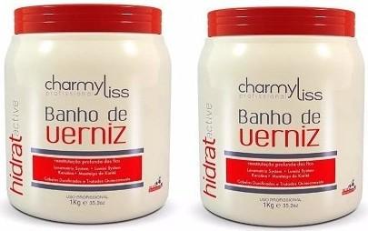 Banho De Verniz Charmyliss 1kg Cabelos Hidratados 2 Unidades
