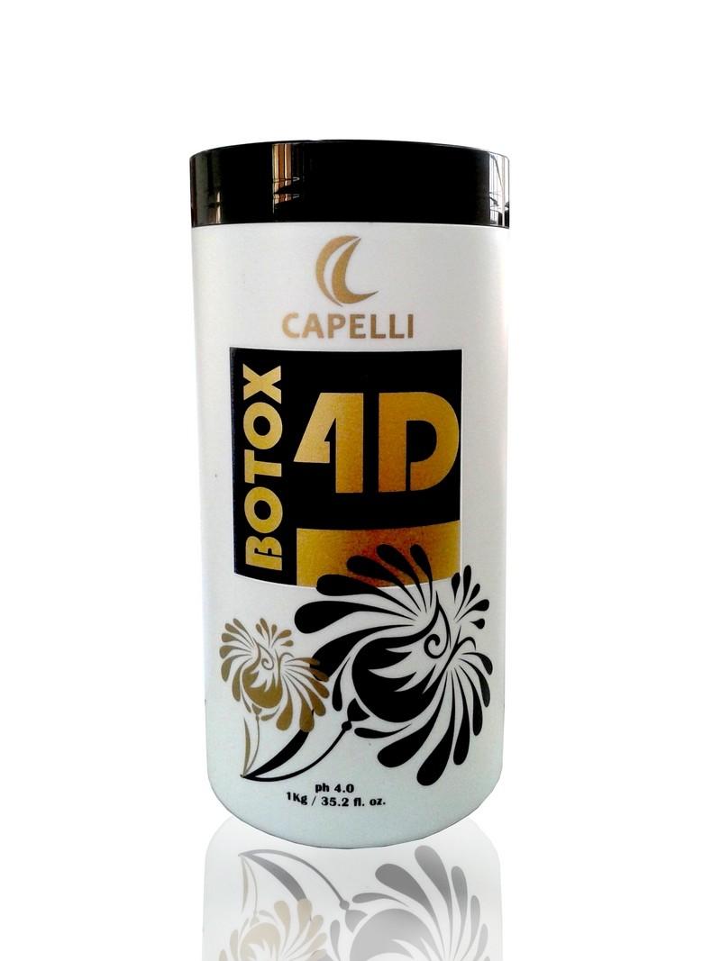 Capelli Botox 4D - Redutor de Volume Capilar Matizador 1kg - R