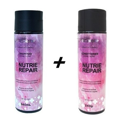 Dicolore Nutrie Repair Kit Manutenção - Shampoo 240ml + Condicionador 240g - ST