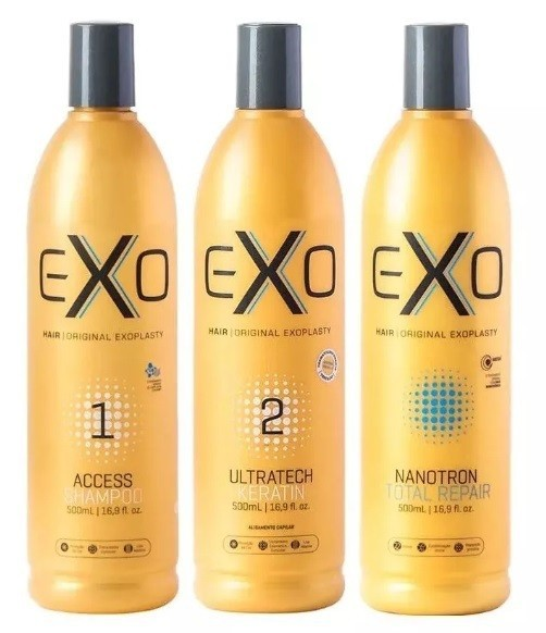 Exo Hair Kit Ultratech Exoplastia Capilar Nanotrônica 3x500ml - CS