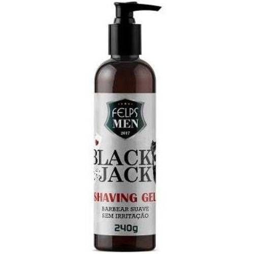 Felps Men Black Jack Shaving Gel para Barbear 240g - P