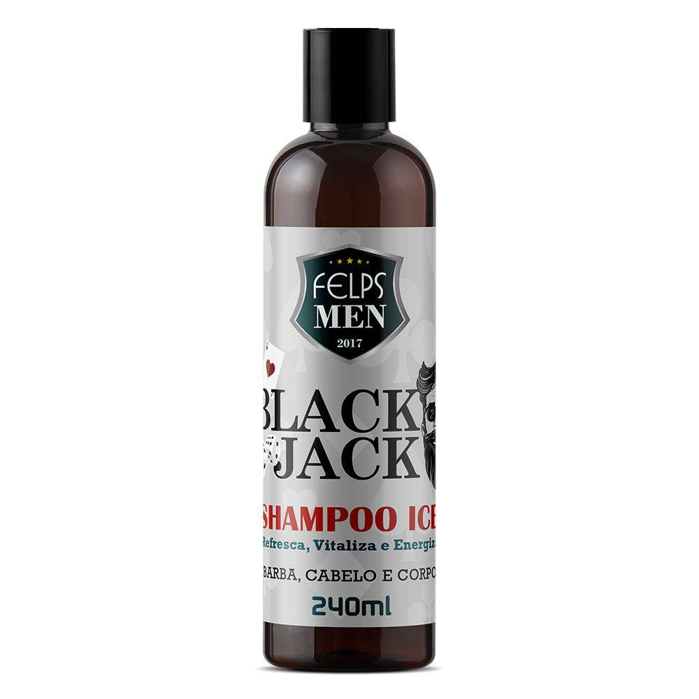 Felps Men Shampoo Ice Black Jack 240ml - P