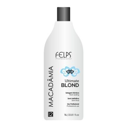 Felps Profissional Macadâmia Ultimate Blond Selagem Térmica 1L