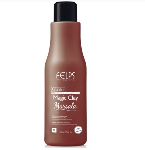 Felps Profissional Xcolor Magic Clay Marsala 500ml