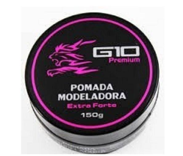G10 Premium Pomada Modeladora Efeito Matte Extra Forte 150g