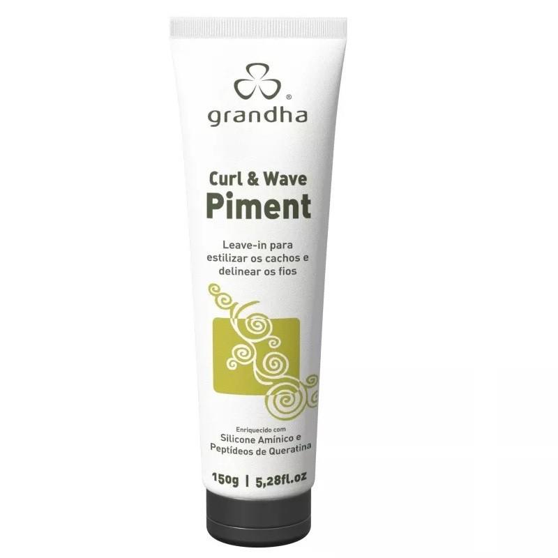 Grandha Curl & Wave Piment 150g Leave-in Ativador De Cachos